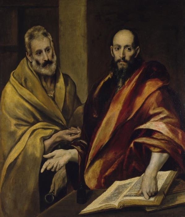Papier peint vinyle Le Greco - Les Apôtres Pierre et Paul - Reproductions