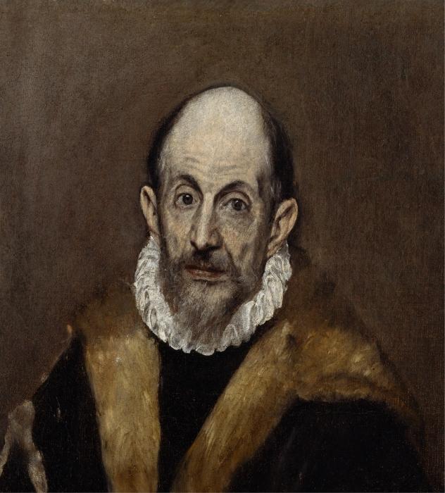Pixerstick Sticker El Greco - Portret van een oude man - Reproducties