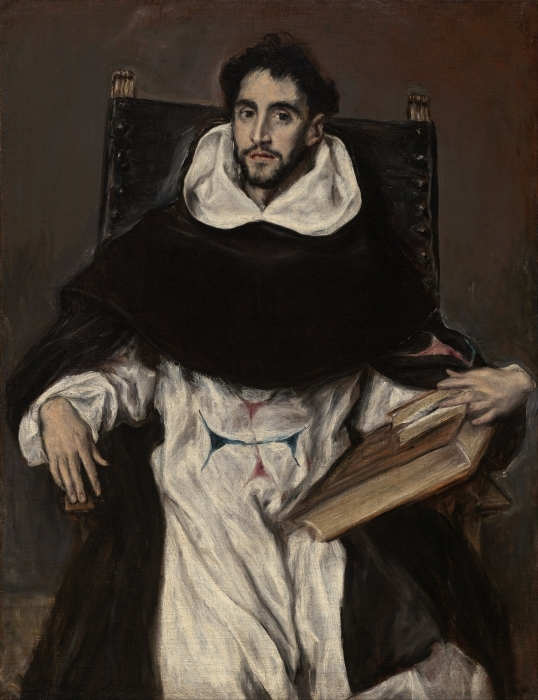 El Greco - Portrait of Fray Hortensio Félix Paravicino Pixerstick Sticker - Reproductions