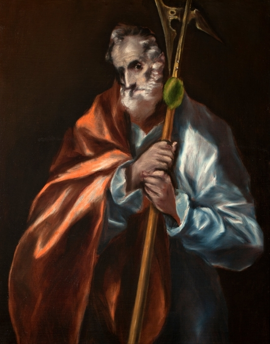 Adesivo Pixerstick El Greco - L'Apostolo Taddeo - Riproduzioni