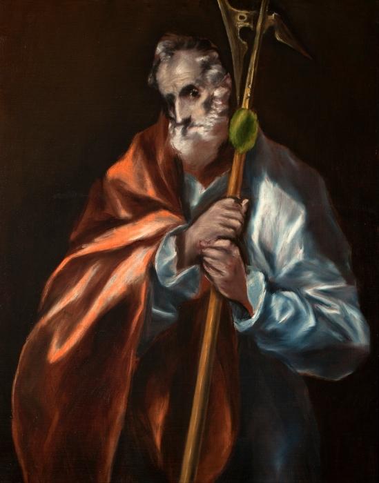 Pixerstick Aufkleber El Greco - Der heilige Judas Thaddäus - Reproduktion