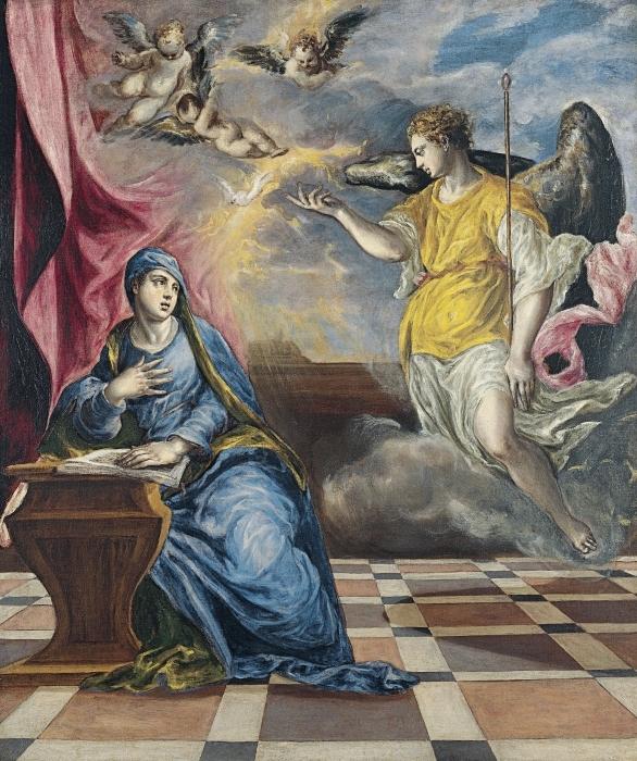 Pixerstick Aufkleber El Greco - Die Verkündigung - Reproduktion