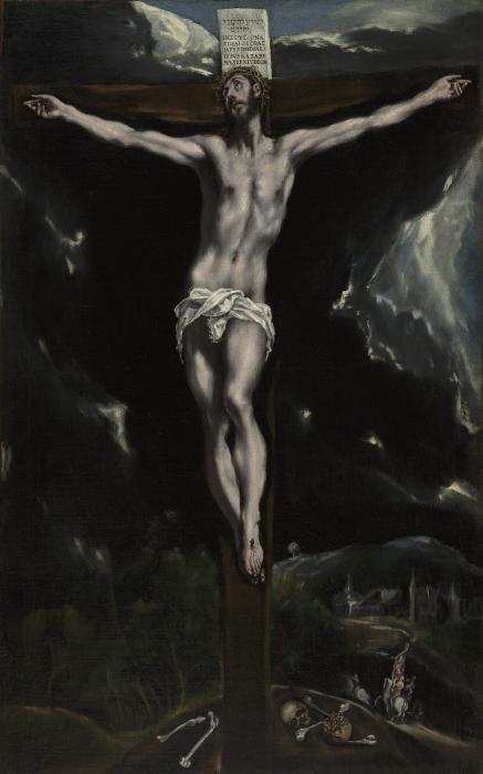 Sticker Pixerstick Le Greco - la Crucifixion - Reproductions