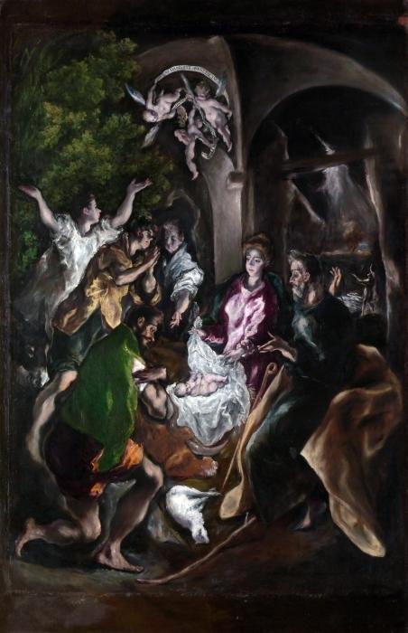 Papier peint vinyle Le Greco - L'Adoration des bergers - Reproductions