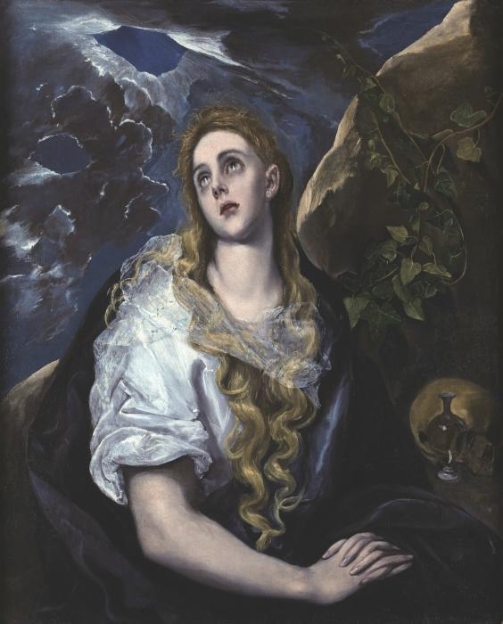 Pixerstick Aufkleber El Greco - Büßende Magdalena - Reproduktion