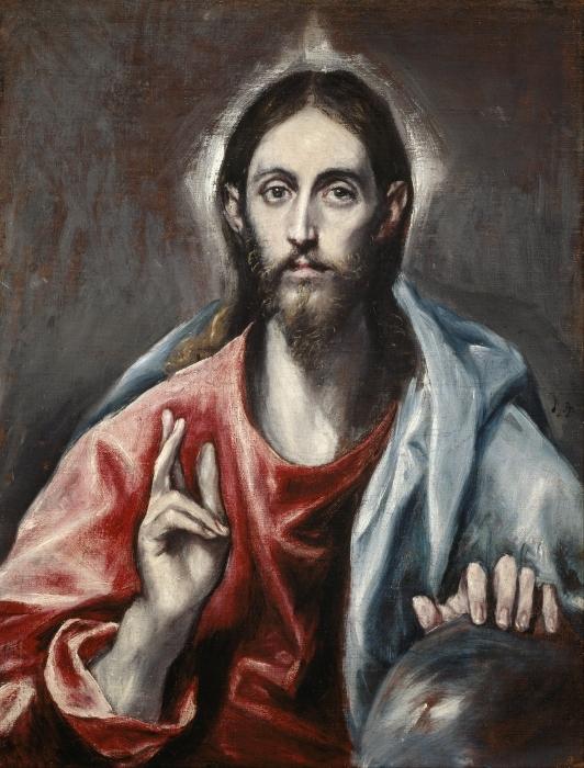 Pixerstick Sticker El Greco - Zegenende Christus - Reproducties