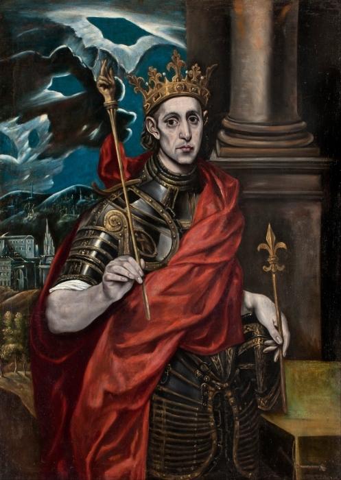 Vinyl-Fototapete El Greco - Der hl. Ludwig, König von Frankreich, mit einem Pagen - Reproduktion
