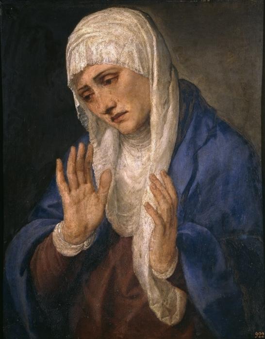 Pixerstick Aufkleber Tizian - Mater Dolorosa - Reproduktion