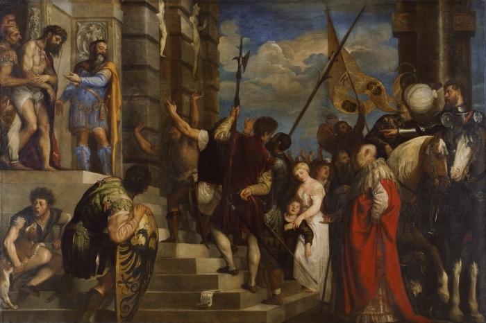 Carta da Parati in Vinile Tiziano - Ecce Homo - Riproduzioni
