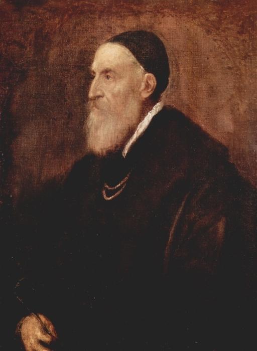 Vinilo Pixerstick Tiziano - Auto retrato - Reproducciones