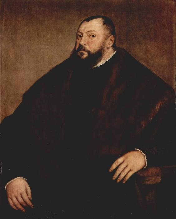 Vinilo Pixerstick Tiziano - Elector Friedrich von Sachsen - Reproducciones