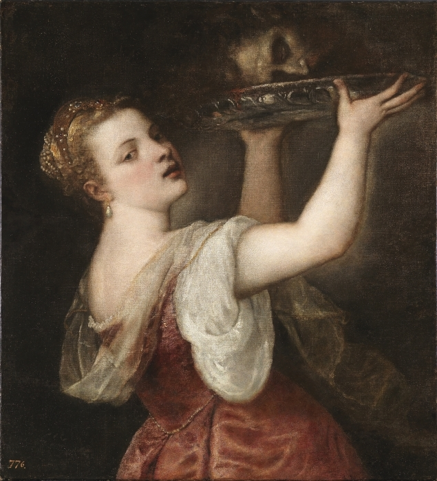 Titian - Salome Carrying the Head of St. John the Baptist Vinyl Wall Mural - Reproductions