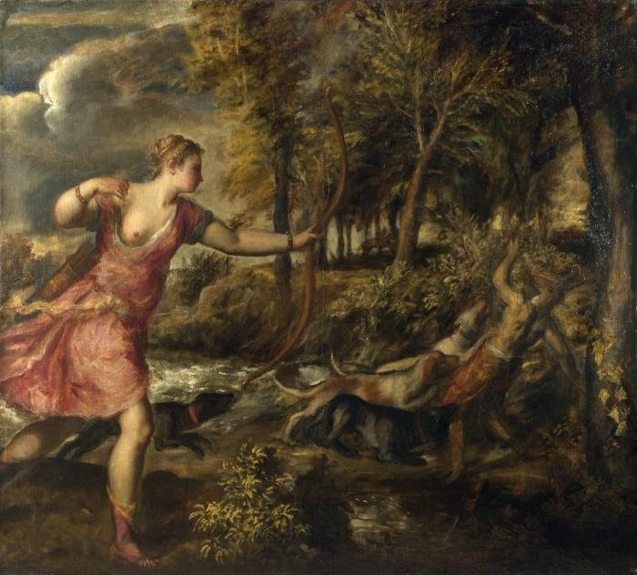 Fotomural Estándar Tiziano - La muerte de Acteón - Reproducciones