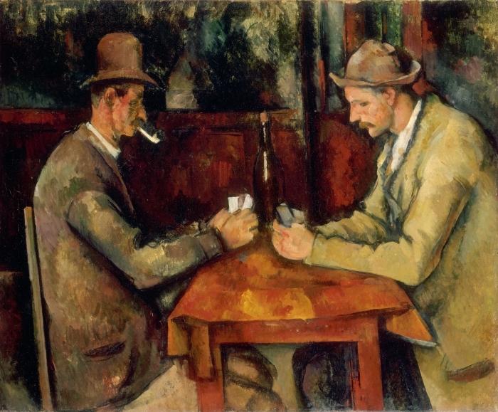 Adesivo Pixerstick Paul Cézanne - I giocatori di carte - Riproduzioni