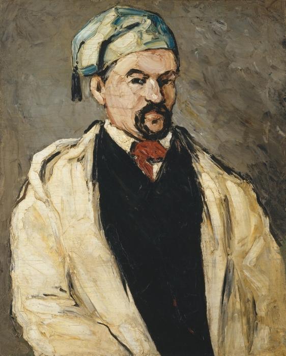 Naklejka Pixerstick Paul Cézanne - Portret mężczyzny w niebieskiej czapce - Reprodukcje