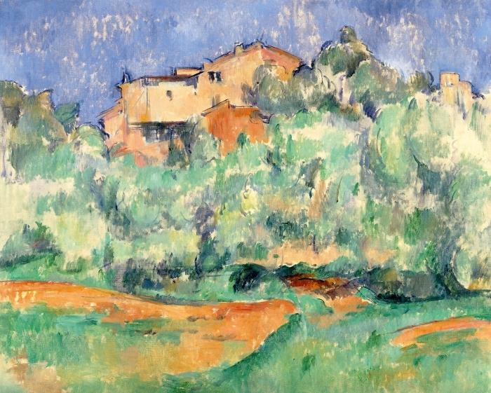 Pixerstick Aufkleber Paul Cézanne - Das Gehöft von Bellevue mit Taubenschlag - Reproduktion