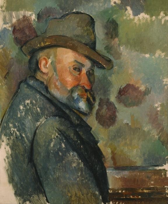 Naklejka Pixerstick Paul Cézanne - Autoportret - Reprodukcje