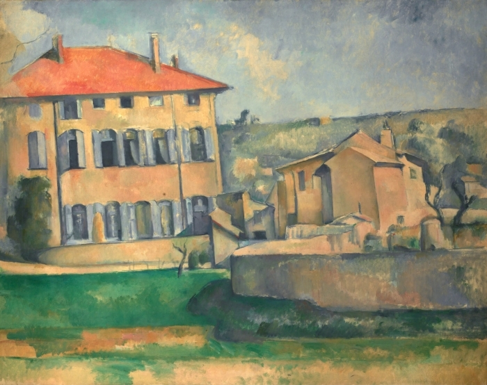 Pixerstick Aufkleber Paul Cézanne - Das Landgut Jas de Bouffan - Reproduktion