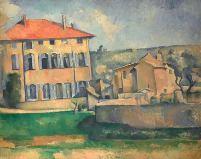 Naklejka Pixerstick Paul Cézanne - Jas de Bouffan - Reprodukcje
