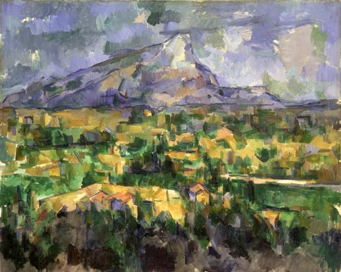 Pixerstick Aufkleber Paul Cézanne - Montagne Sainte-Victoire - Reproduktion