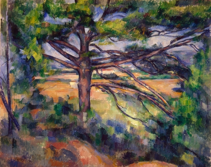 Pixerstick Sticker Paul Cézanne - De grote dennenboom - Reproducties