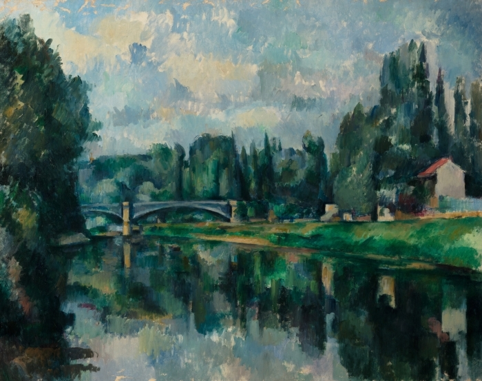 Papier peint vinyle Paul Cézanne - Les Bords de la Marne - Reproductions