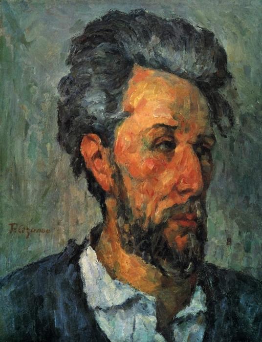 Vinyl-Fototapete Paul Cézanne - Porträt des Victor Chocquet - Reproduktion