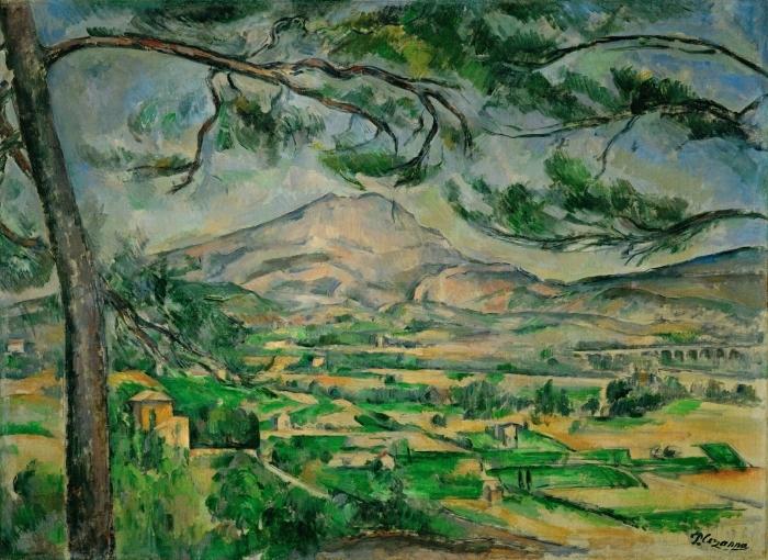 Papier peint vinyle Paul Cézanne - Montagne Sainte-Victoire - Reproductions
