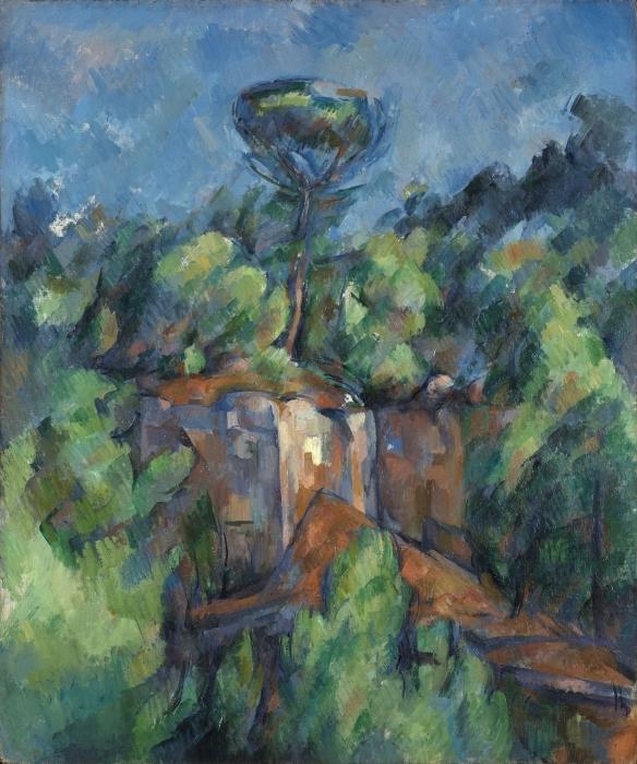 Papier peint vinyle Paul Cézanne - La carrière de Bibémus - Reproductions