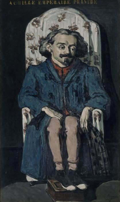 Vinyl-Fototapete Paul Cézanne - Achille Emperaire (Porträt) - Reproduktion