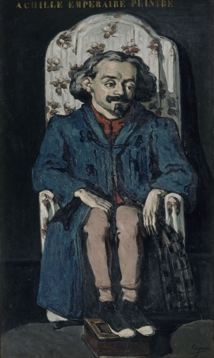 Vinilo Pixerstick Paul Cézanne - Retrato de Aquiles Emperaire - Reproducciones