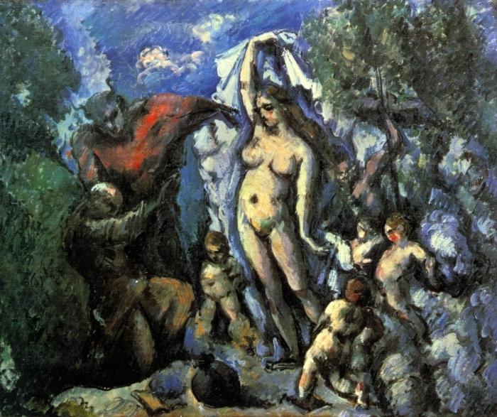 Vinilo Pixerstick Paul Cézanne - La tentación de San Antonio - Reproducciones