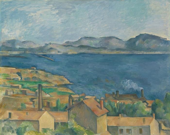 Pixerstick Aufkleber Paul Cézanne - Die Bucht von Marseille, von L'Estaque aus gesehen - Reproduktion