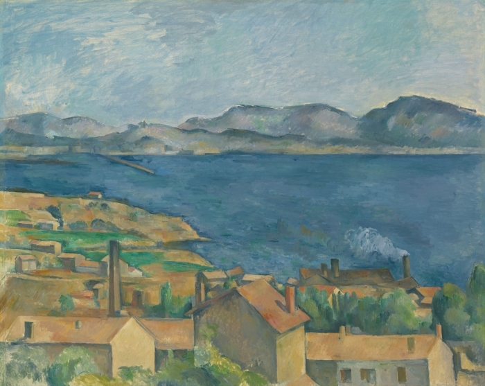Naklejka Pixerstick Paul Cézanne - Zatoka Marsylijska widziana z Estaque - Reprodukcje