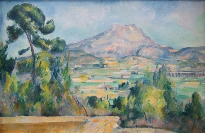 Vinyl-Fototapete Paul Cézanne - Montagne Sainte-Victoire - Reproduktion