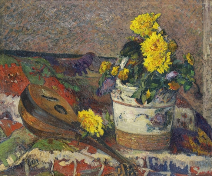 Paul Gauguin - Still Life with a Mandolin Vinyl Wall Mural - Reproductions