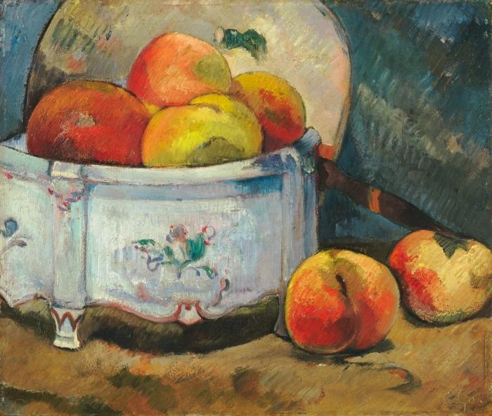 Vinilo Pixerstick Paul Gauguin - Naturaleza muerta con melocotones - Reproducciones
