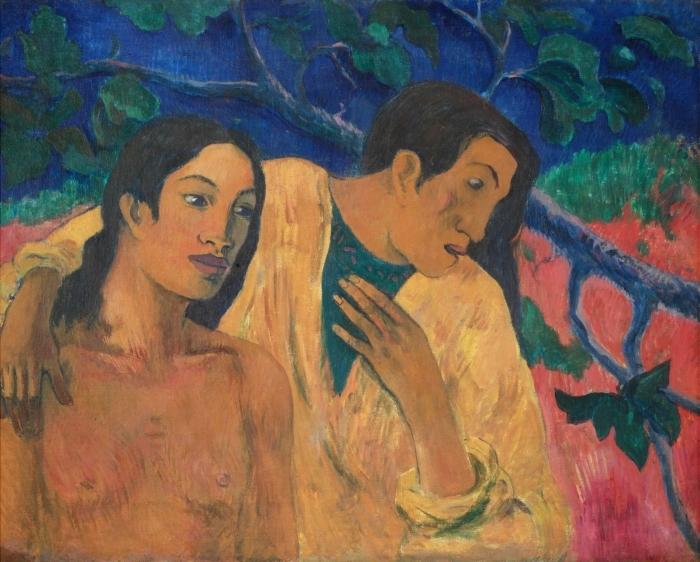Vinyl-Fototapete Paul Gauguin - Flight (Tahiti Idyll) - Reproduktion