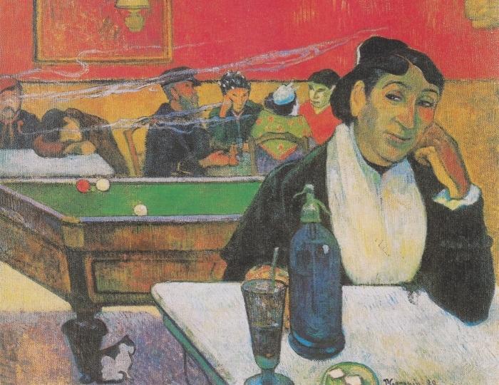Pixerstick Aufkleber Paul Gauguin - Das Nachtcafé in Arles (Madame Ginoux) - Reproduktion