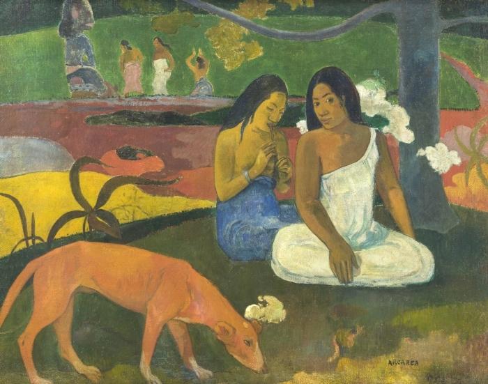 Sticker Pixerstick Paul Gauguin - Arearea - Reproductions