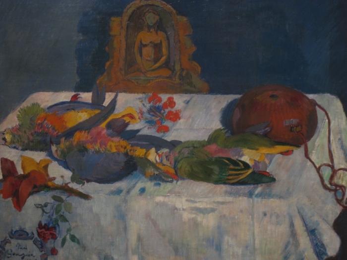 Carta da Parati in Vinile Paul Gauguin - Natura morta con pappagalli - Riproduzioni