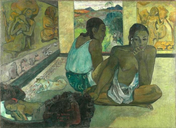 Pixerstick Aufkleber Paul Gauguin - Te rerioa (Der Traum) - Reproduktion