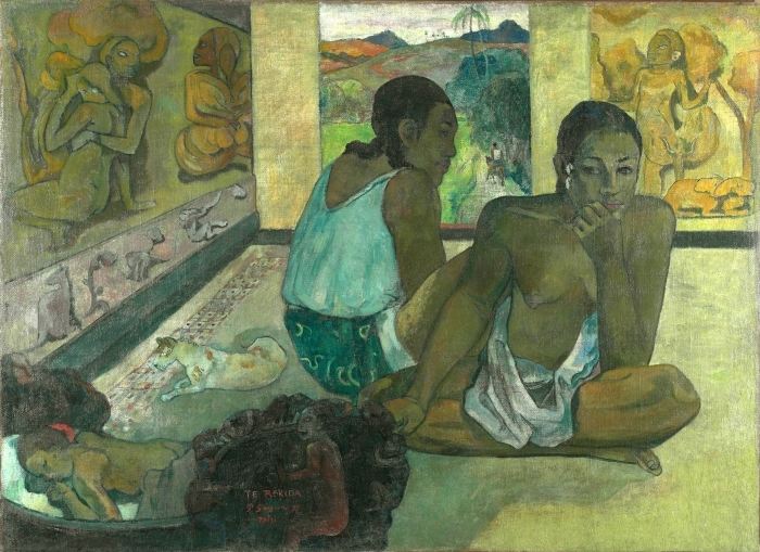 Vinil Duvar Resmi Paul Gauguin - Te rerio (Rüya) - Benzetiler