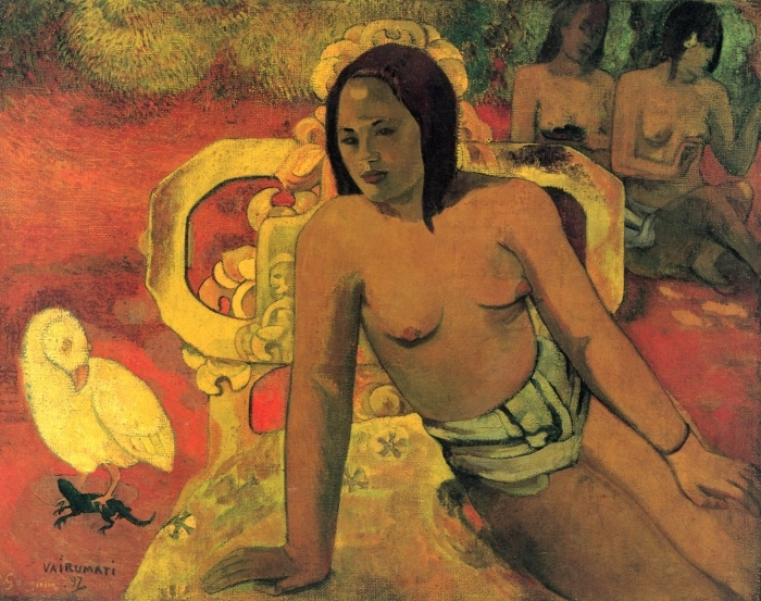 Naklejka Pixerstick Paul Gauguin - Vairumati - Reprodukcje
