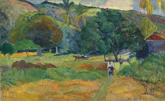 Naklejka Pixerstick Paul Gauguin - Dolina - Reprodukcje