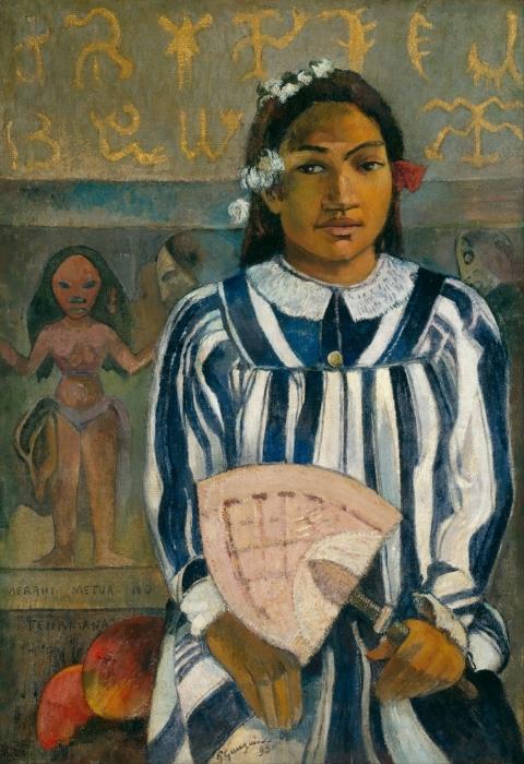 Naklejka Pixerstick Paul Gauguin - Merahi metua no Tehamana (Tehamana ma wielu przodków) - Reprodukcje