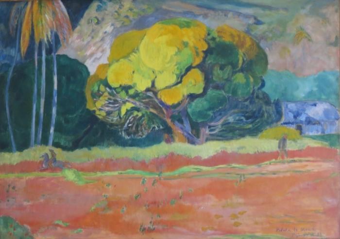 Naklejka Pixerstick Paul Gauguin - Fatata te moua (U podnóża góry) - Reprodukcje