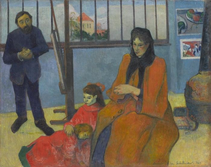 Papier peint vinyle Paul Gauguin - L'atelier de Schuffenecker - Reproductions