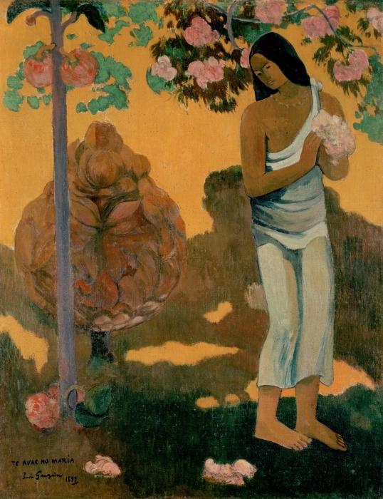 Naklejka Pixerstick Paul Gauguin - Te avae no Maria (Miesiąc Marii) - Reprodukcje