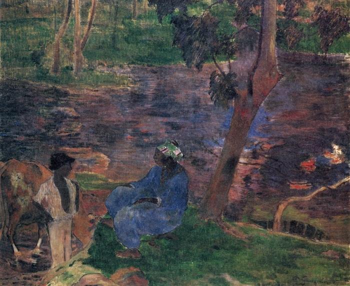 Naklejka Pixerstick Paul Gauguin - Martynika - Reprodukcje